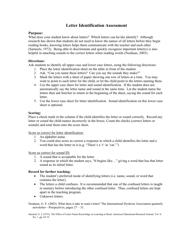 """""""Letter Identification Assessment Template"""""""