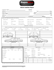 """Vehicle Condition Report Template - Repomax"""
