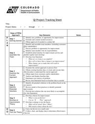 """Qi Project Tracking Sheet"" - Colorado"