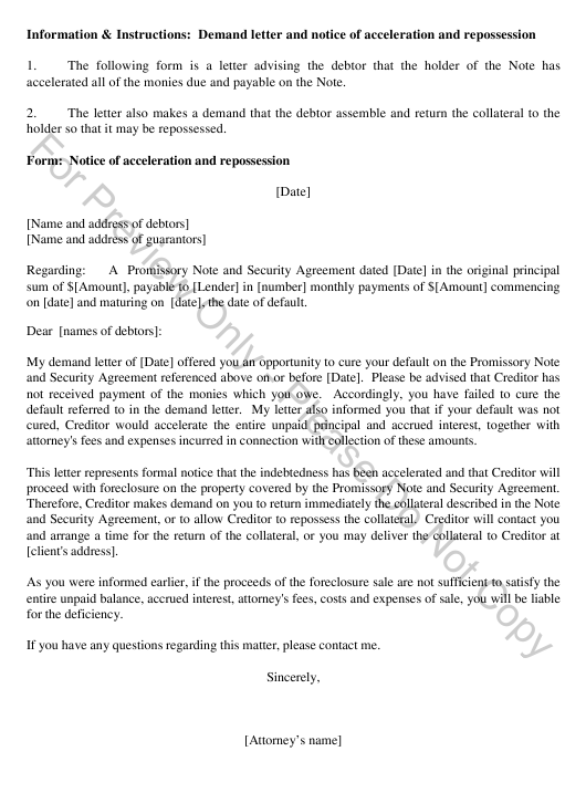Sample Demand Letter For Collection Of Debt from data.templateroller.com