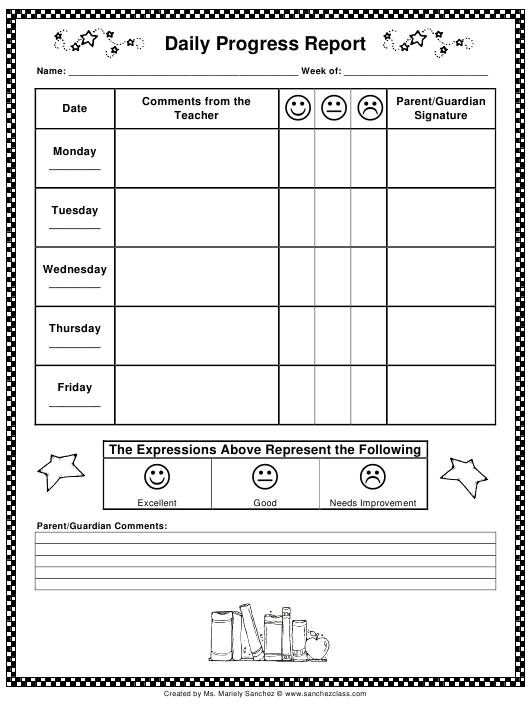 """Daily Progress Report Template"" Download Pdf"