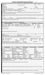"""Freddie Mac Form 70 """"Fannie Mae Form 1004 - Uniform Residential Appraisal Report"""""""