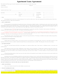 """Apartment Lease Agreement Template"""