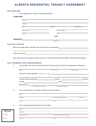 Residential Tenancy Agreement Template - Alberta