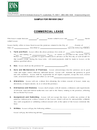 """Commercial Lease Template - Royale Management Services"""