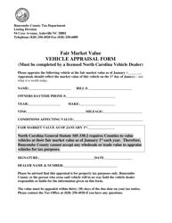 """Vehicle Appraisal Form"" - Buncombe County, North Carolina"