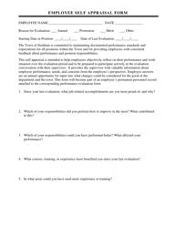 """Employee Self Appraisal Form"""