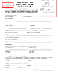 Family Child Care Enrollment Packet