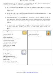 Daily Routines for Busy Families Template
