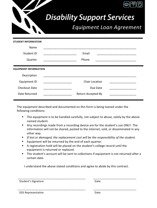 """Equipment Loan Agreement Template"" Download Pdf"