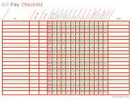 """Bill Pay Checklist Template"""