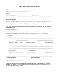 """Form LS15 """"Notice and Consent for Direct Deposit"""" - New York"""