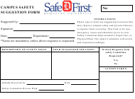 Campus Safety Suggestion Form - Safe First