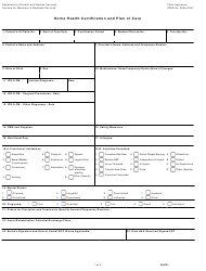 """Form CMS-485 """"Home Health Certification and Plan of Care"""""""