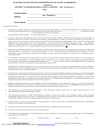 In-store Sales/Service Representative Work Agreement Template - Jeffery's Greenhouses Plant Ii Limited