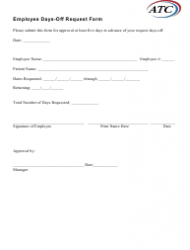 Employee Days-Off Request Form - Atc