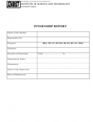 Internship Report Template - Shaheed Zulfikar Ali Bhutto Institute of Science and Technology