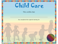 """Child Care Training Certificate Template"""