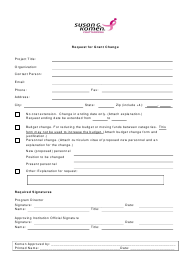 """Request for Grant Change - Susan G. Komen Chattanooga"""