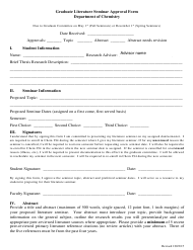 """Graduate Literature Seminar Approval Form - Carnegie Mellon University"""