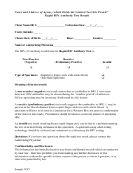 Sample Rapid Hiv Antibody Test Result Form