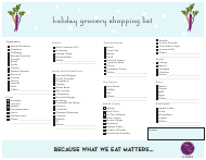 Holiday Grocery Shopping List Template - Mary Lee Kitchen