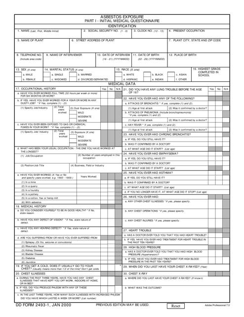 DD Form 2493-1  Printable Pdf