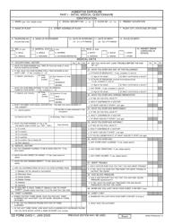 DD Form 2493-1 Asbestos Exposure Part I - Initial Medical Questionnaire