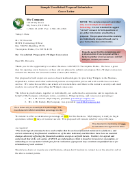 Sample Unsolicited Proposal Submission Cover Letter, Enclosures and Business Questionnaire Template