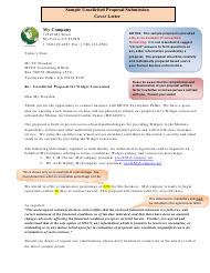 "Sample ""Unsolicited Proposal Submission Cover Letter, Enclosures and Business Questionnaire Template"""