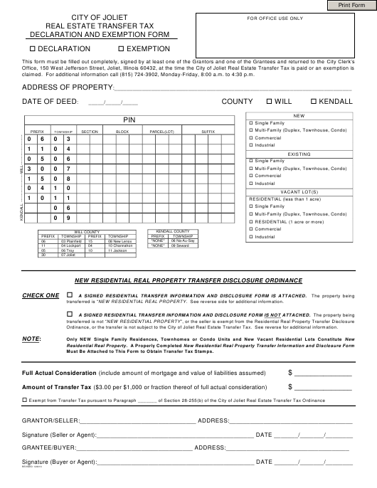 Real Estate Transfer Taxes A Guide For New York City And: Real Estate Transfer Tax Declaration And Exemption Form