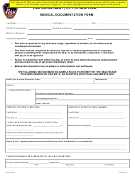 "Form HR-07-03 ""Medical Documentation Form"" - New York City"