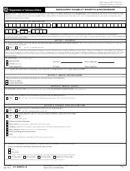 VA Form 21-0960c-6 Narcolepsy Disability Benefits Questionnaire