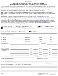 "Form CPI-2 ""Written Report Form for Mandated Reporters of Child Abuse/Neglect"" - Louisiana"
