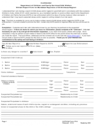 Form CPI-2 Written Report Form for Mandated Reporters of Child Abuse/Neglect - Louisiana