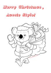 """""""Merry Christmas Koala Coloring Sheet"""""""