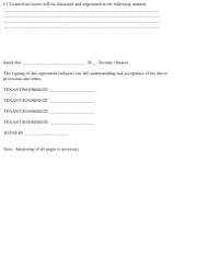 """Roommate Agreement Template"" - City of Toronto, Ontario, Canada, Page 3"