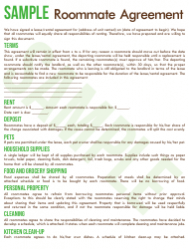 Sample Roommate Agreement Template - Commuters Rit