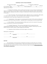 """Contract With Stock Broker Template"""