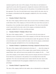 """Sample Buy-Sell Agreement Template"", Page 9"