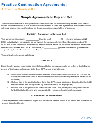 "Sample ""Buy and Sell Agreement Template - Aicpa"""