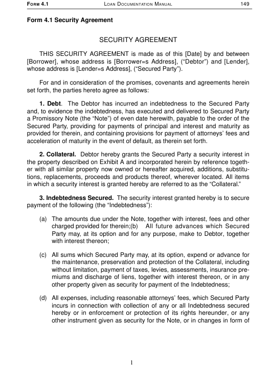 Security Agreement Template Download Printable Pdf Page 11 Of 13
