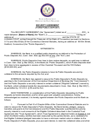 Security Agreement (Form Public Deposit) - Connecticut
