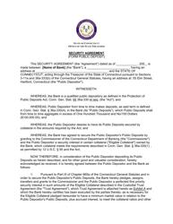 """""""Security Agreement (Form Public Deposit)"""" - Connecticut"""