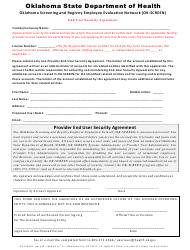 Ok-Screen End User Security Agreement Form - Oklahoma