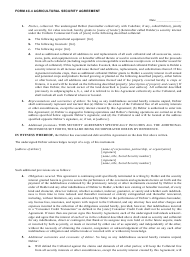 "Sample ""Agricultural Security Agreement Template"""