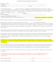 Non-refundable Puppy Deposit Contract Template - Pinellas County, Florida