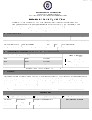 Firearm Release Request Form - City of Memphis, Tennessee