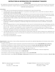 Application For Brevard County Business Tax Receipt - Brevard County, Florida