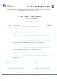 Student Scholarship Recipient Activity Commitment Fulfillment Form - Academy of Arts and Academics